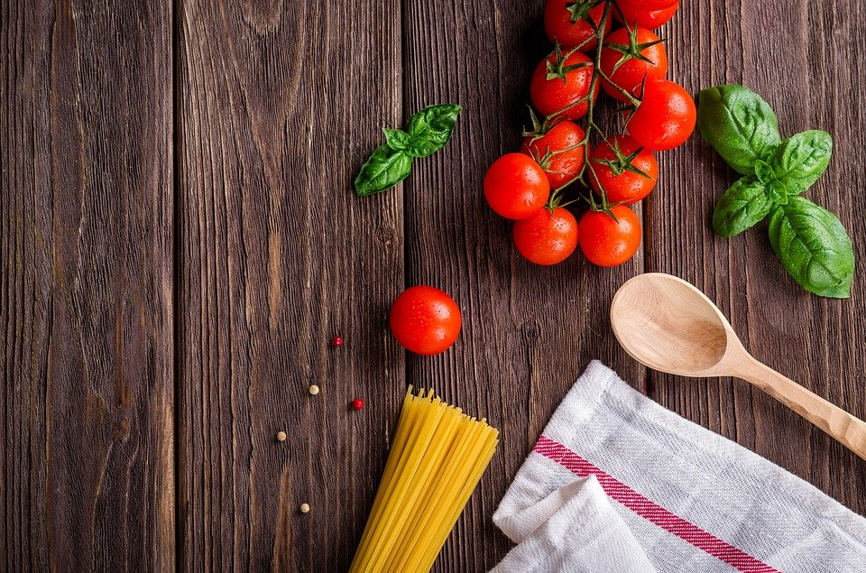 rajčiny špagety, varecha